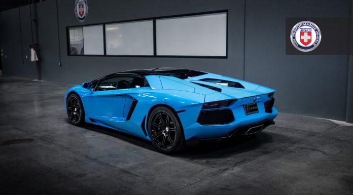 Breathtaking Blu Cepheus Lamborghini Aventador on HRE Wheels!