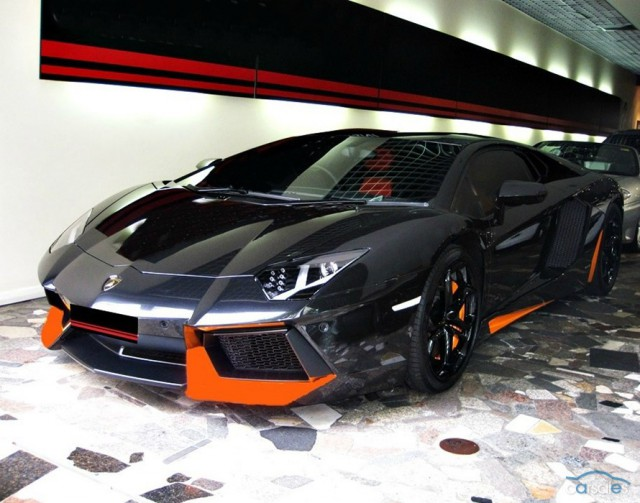 Gorgeous Halloween-Inspired Lamborghini Aventador For Sale
