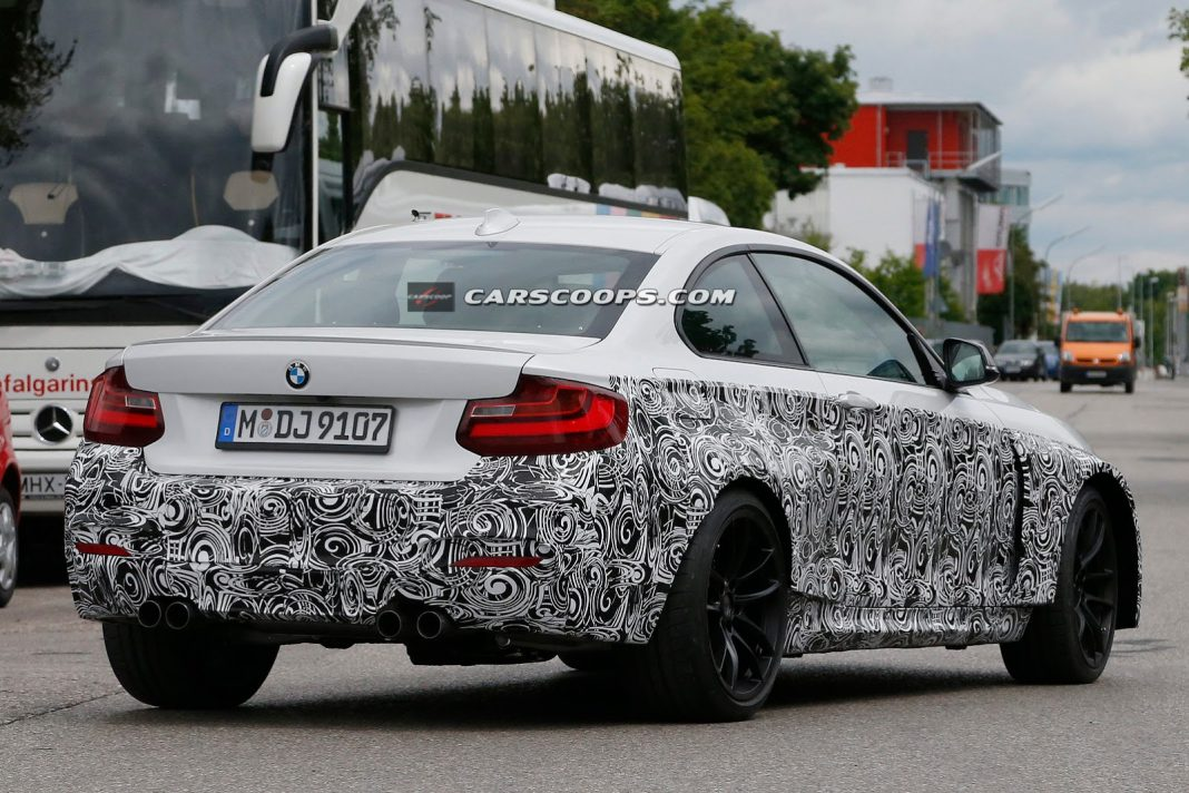 BMW M2 Coupe Protoype Spied in White With Quad Exhausts!
