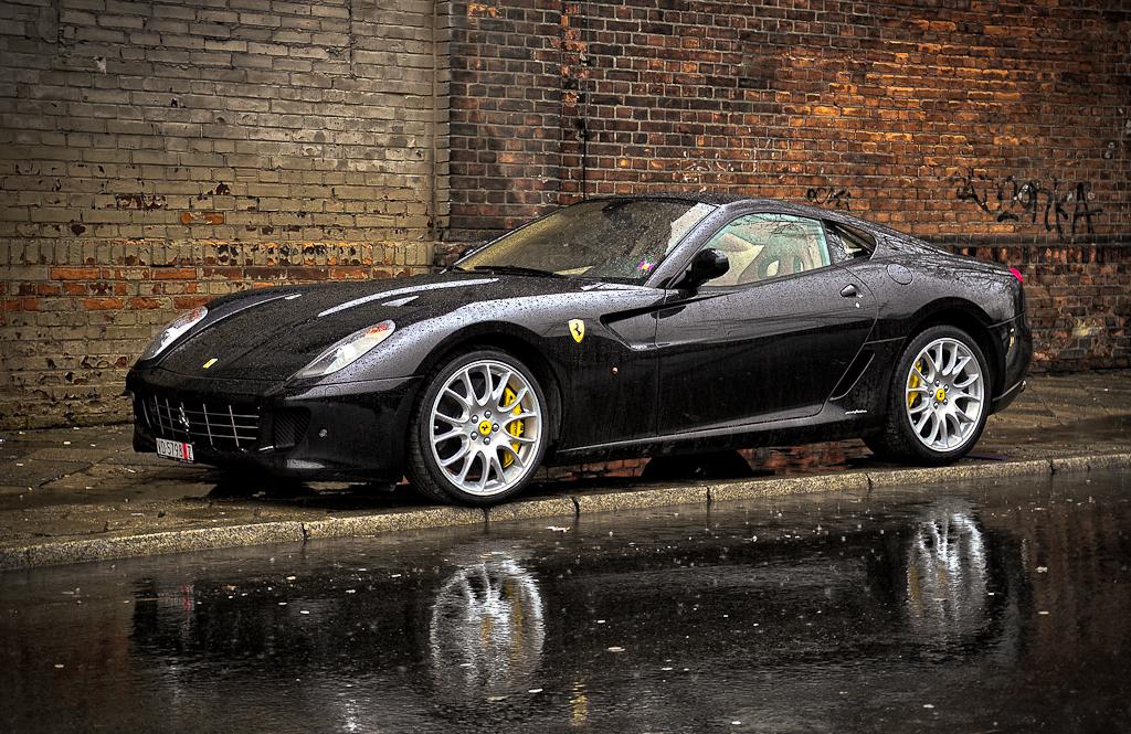 Photo Of The Day Black Ferrari 599 Gtb Reflection Gtspirit