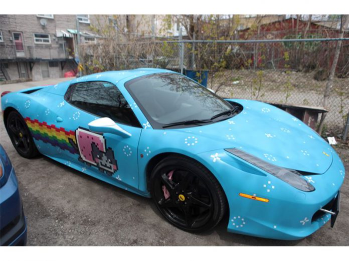 Deadmau5's Nyan Cat Ferrari 458 Spider For Sale