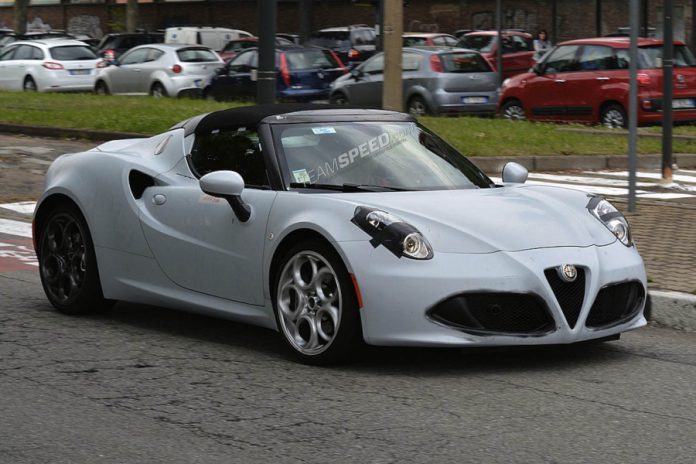 Production Alfa Romeo 4C Spider Snapped Testing