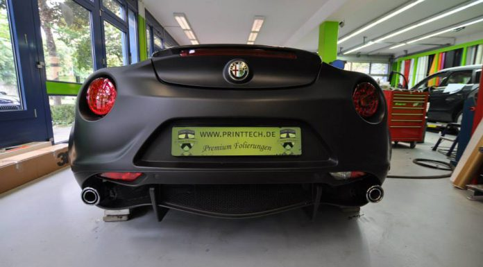 Deep Matt Black Alfa Romeo 4C