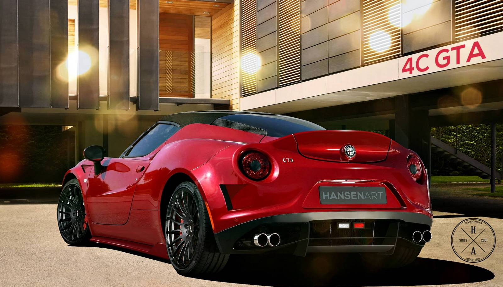 render alfa romeo 4c gta by hansen art gtspirit. Black Bedroom Furniture Sets. Home Design Ideas