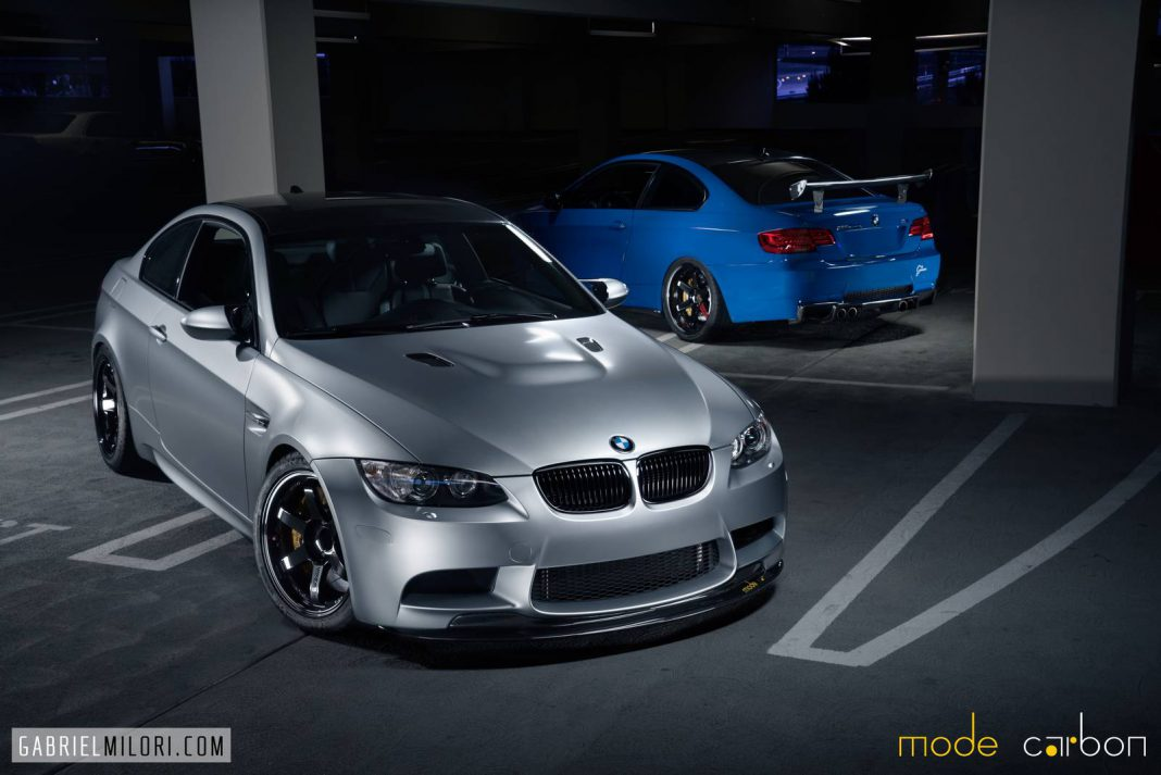Santorini Blue and Frozen Silver Duo BMW M3 by Mode Carbon