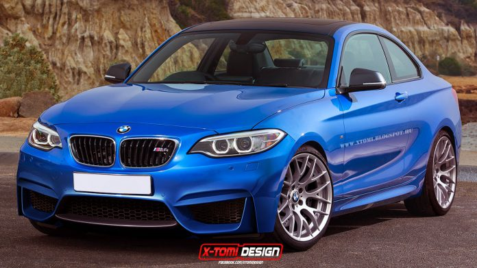 BMW M2 Rendered in Blue