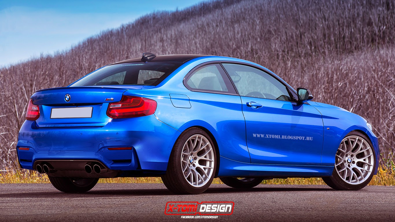bmw m2 rendered in blue gtspirit. Black Bedroom Furniture Sets. Home Design Ideas