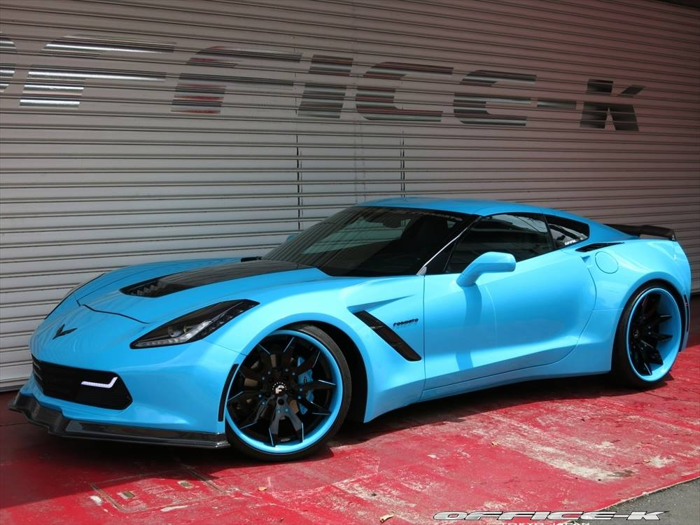 2014 Corvette Stingray For Sale >> Blue Corvette C7 Stingray Widebody by Office-K - GTspirit