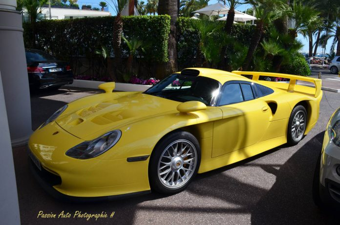 Light Yellow Porsche 911 GT1 Spotted in Cannes
