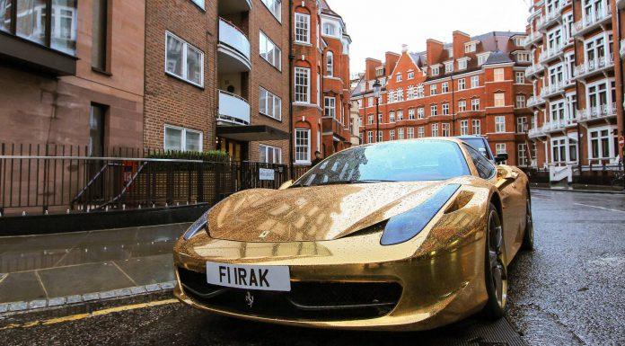 Chrome Gold Ferrari 458
