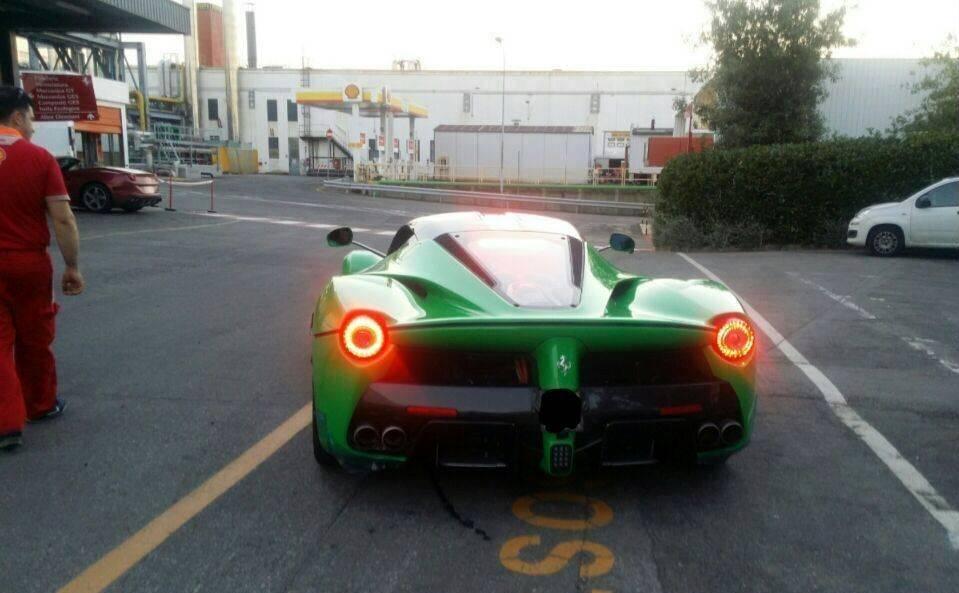 Jay Kay's Green Ferrari LaFerrari Spotted