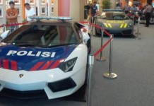 Lamborghini Aventador and Gallardo Police Cars in Indonesia
