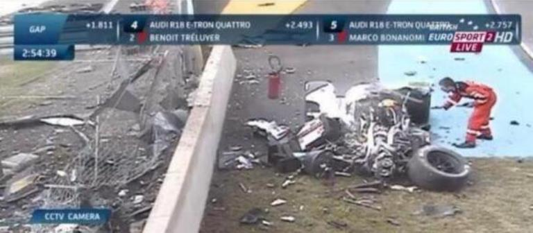 Loic Duval Stable after Massive Crash at Le Mans