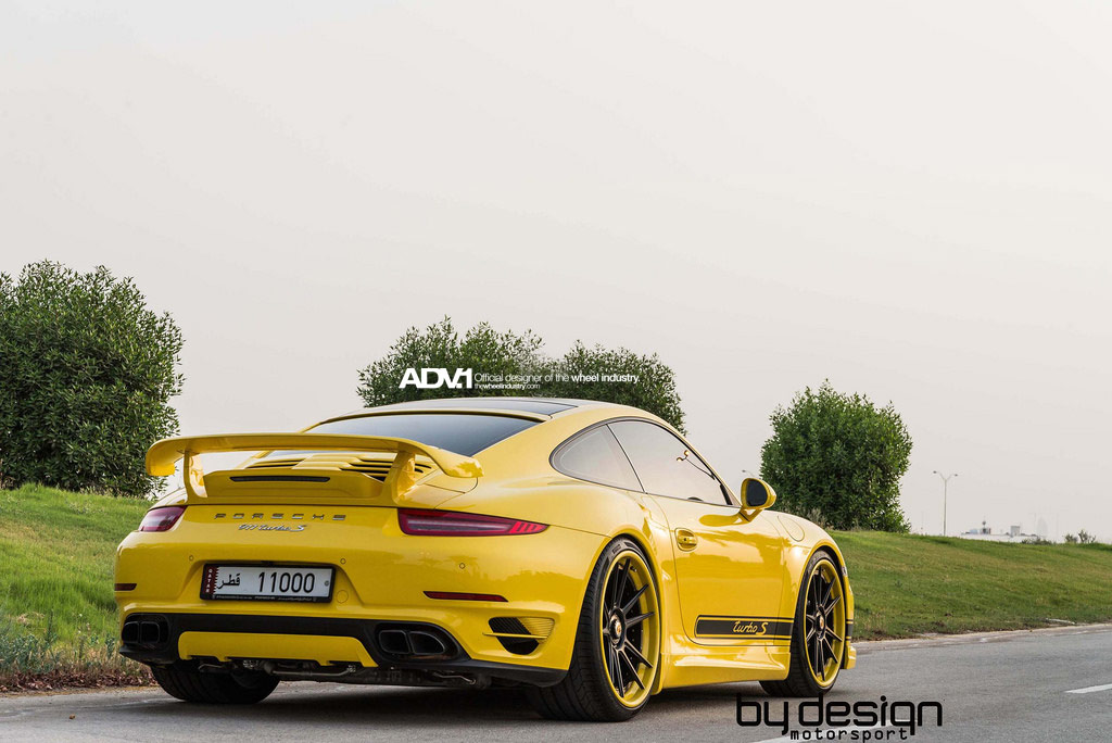 Yellow Porsche 911 Turbo S by ByDesign Motorsport - GTspirit