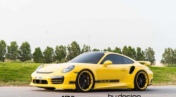 Yellow Porsche 911 Turbo S by ByDesign Motorsport