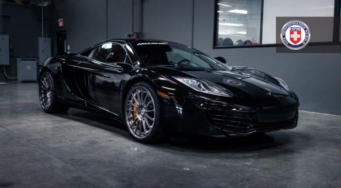 Black McLaren 12C Riding on HRE Wheels