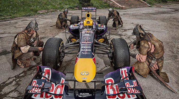 Red Bull RB10 F1 Car in the Wild in Kazakhstan
