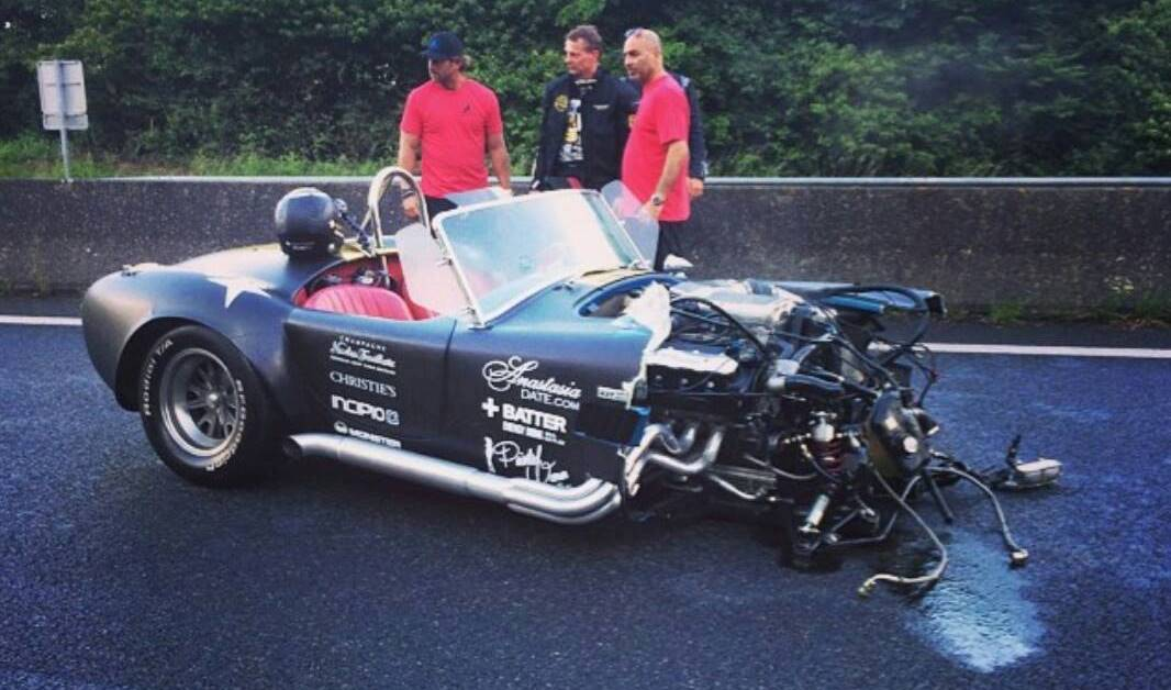 800 Hp Shelby Cobra Wrecked During Gumball 3000 Gtspirit