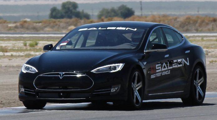 Modified Saleen Tesla Model S Prototype Spied Testing