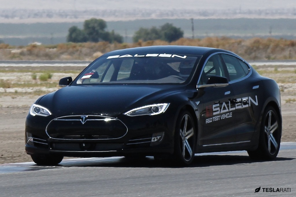 Modified En Tesla Model S Prototype Spied Testing