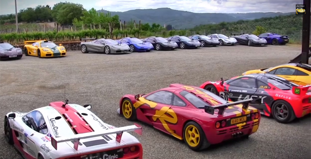 Video: McLaren F1s Invade Italy During Owners Club Meet!