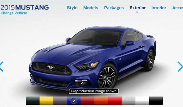 2015 Ford Mustang Online Configurator Launched