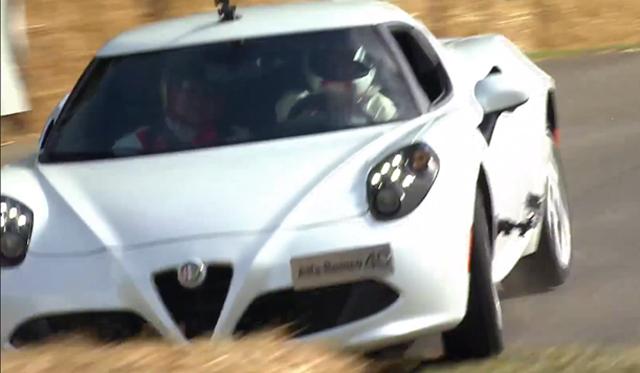 Video: Alfa Romeo 4C Crashes on Goodwood Hillclimb