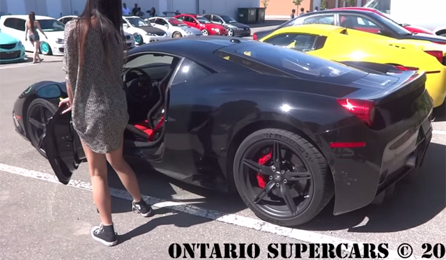 Video: 16-Year-Old Girl Drives Ferrari 458 Speciale!