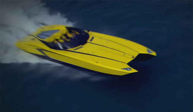 Video: A Look at the Lamborghini Aventador Inspired Speedboat