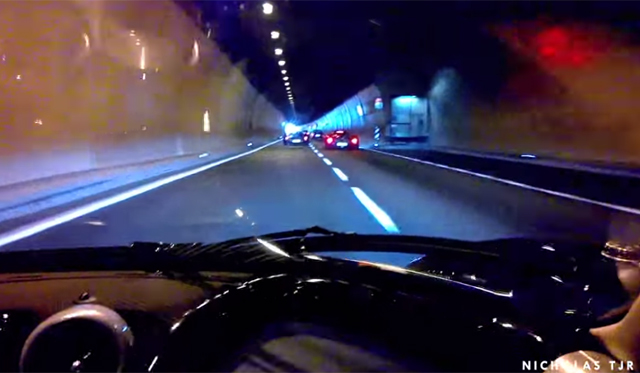 Video: Ride in a Pagani Zonda Tricolore Through Tunnel!