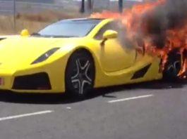 Video: Yellow GTA Spano Supercar Burns in Spain