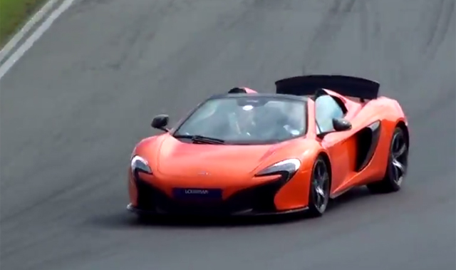 Video: Orange McLaren 650S Spider on Track!