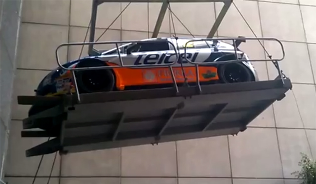 Video: Seat Leon Cupra Racer Falls Two-Stories!