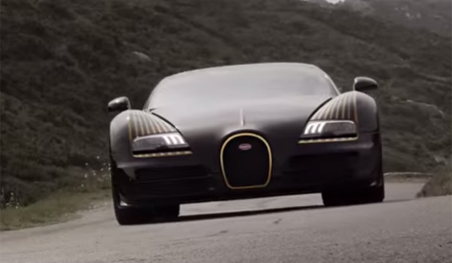 video bugatti veyron grand sport vitesse black bess promo gtspirit. Black Bedroom Furniture Sets. Home Design Ideas