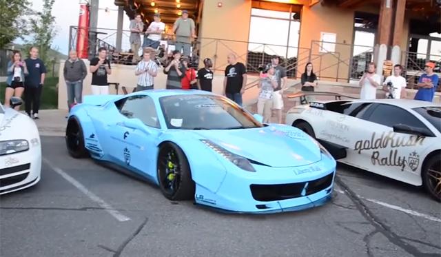 Video: Ridiculous Liberty Walk Ferrari 458 Italia With Armytrix Revs!