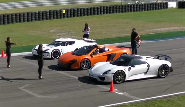 Video: Porsche 918 Spyder vs Koenigsegg Agera R vs McLaren 650S