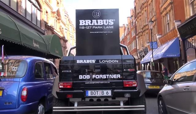 Video: Brabus B63S 700 6x6 vs London City Streets!