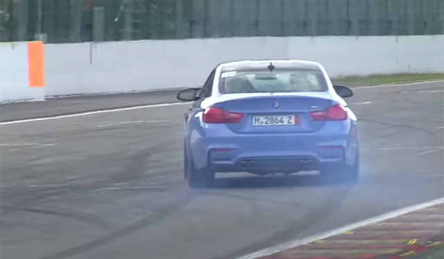 Video: 2014 BMW M4 Coupe Drifting at Spa!