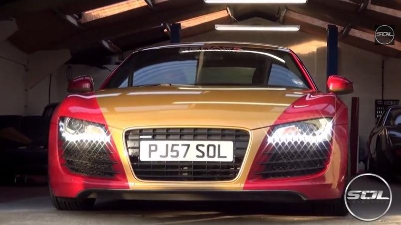 Video: Iron Man Themed Audi R8 in London