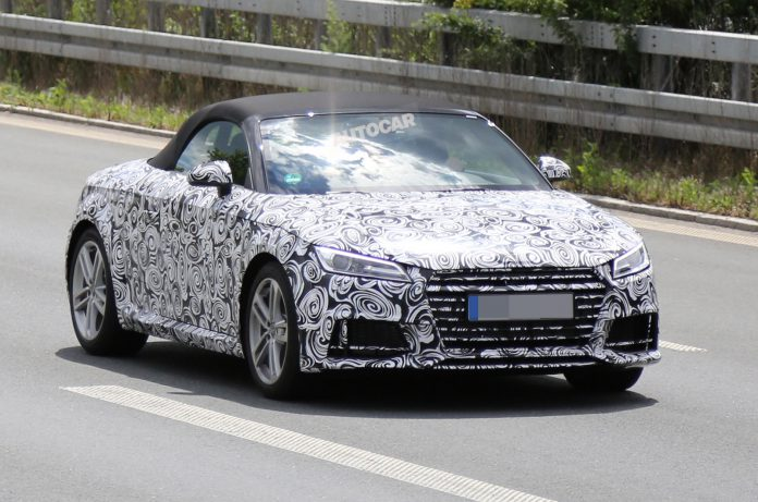 2015 Audi TT Roadster Spied Testing