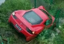 Ferrari 458 Italia Flies Off Chinese Highway