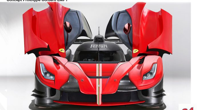 Possible Ferrari LMP1 Prototype Rendered