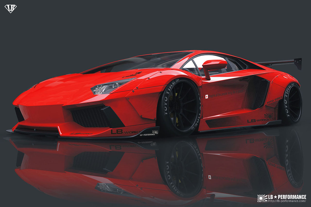 Liberty Walk Previews Widebody Lamborghini Aventador