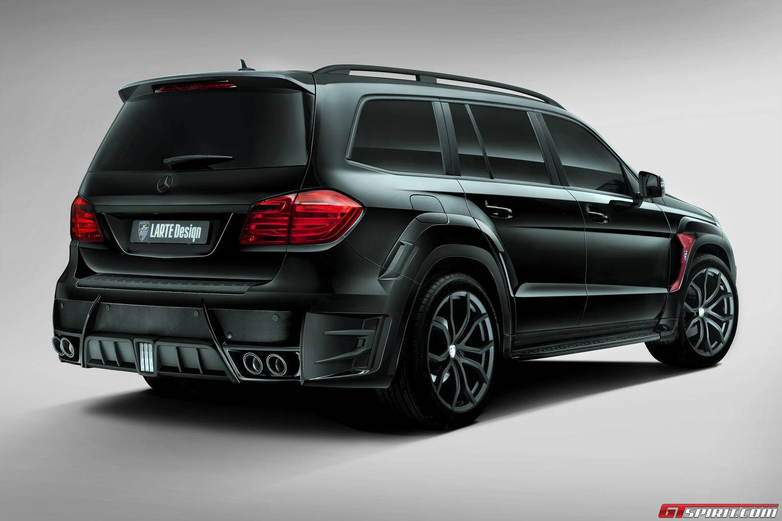 Official mercedes benz gl black crystal by larte design for Mercedes benz black on black