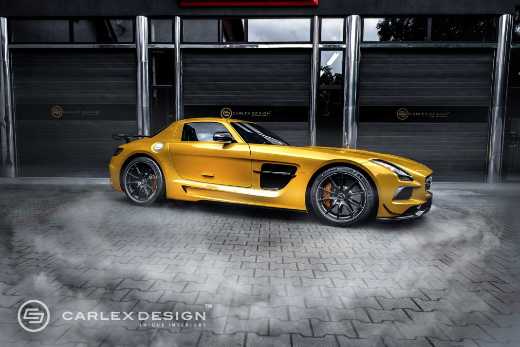 official mercedes benz sls amg black series by carlex design gtspirit. Black Bedroom Furniture Sets. Home Design Ideas
