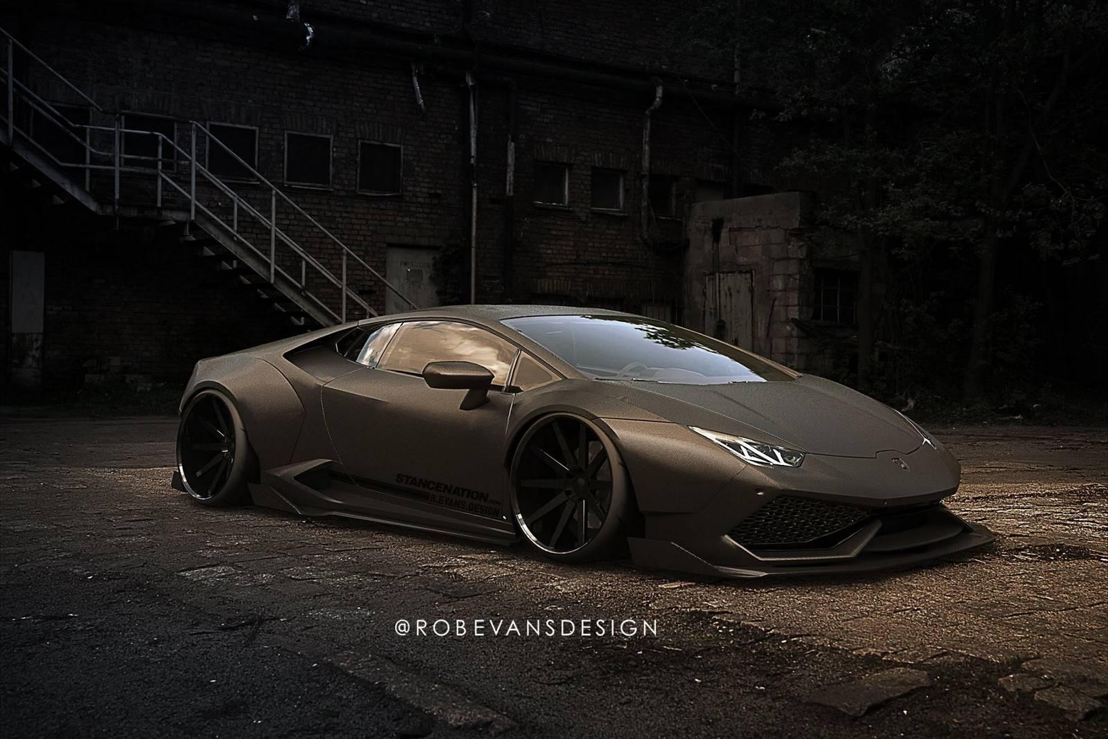 Рендер Lamborghini Huracan от Liberty Walk