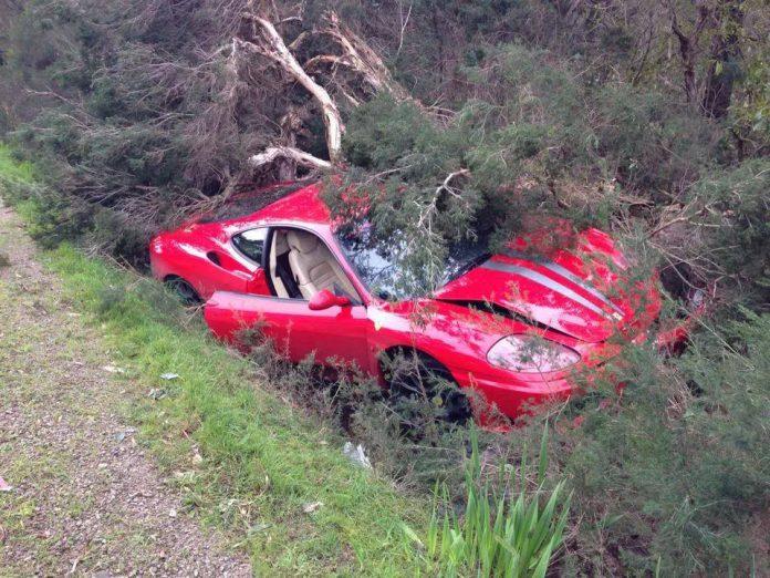 Ferrari 360 Modena Wrecked in Melbourne Australia
