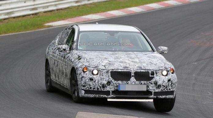 Interior of 2016 BMW 7-Series Spied