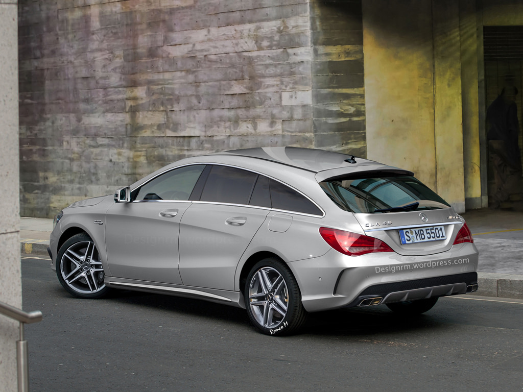 rendering mercedes benz cla 45 amg shooting brake gtspirit. Black Bedroom Furniture Sets. Home Design Ideas