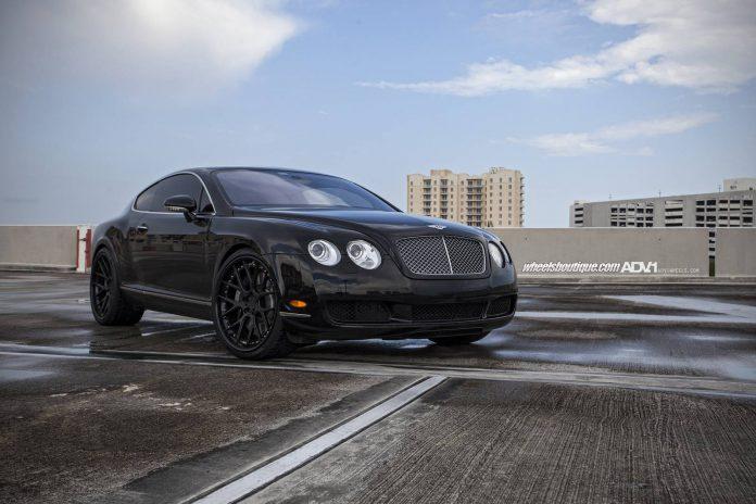 Bentley Continental Rides on Black ADV.1 Wheels